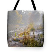 Fall On The River Tote Bag