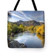 Fall On The Salt River  Tote Bag