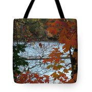 Fall On The Shetucket Tote Bag
