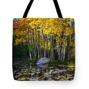 Fall Pond In Mammoth Tote Bag