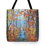 Fall Promenade  Tote Bag