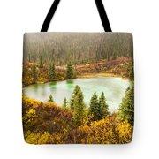 Fall Rain On Wilderness Lake Yukon T Canada Tote Bag