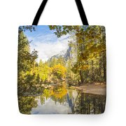 Fall Reflection In Yosemite Tote Bag