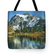 Fall Reflections - Cascade Mountains Tote Bag