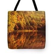 Fall Reflections. Loch Achray. Scotland Tote Bag