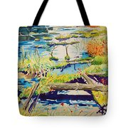 Fall River Scene Tote Bag