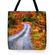 Fall Road To Paradise Tote Bag