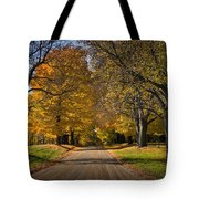 Fall Rural Country Gravel Road Tote Bag