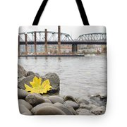 Fall Season Along Portland Willamette River By Marina Tote Bag