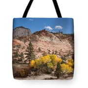 Fall Season At Zion National Park Tote Bag