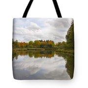 Fall Season By The Pond Tote Bag
