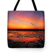 Fall Sunset In The Mead Wildlife Area Tote Bag