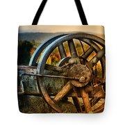 Fall Through The Wheels Tote Bag