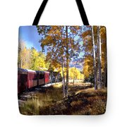 Fall Train Ride New Mexico Tote Bag