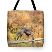 Fall Turkeys Tote Bag