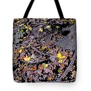 Fallen Autumn Leaves Among The Roots Tote Bag