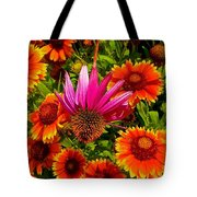 Fallen Coneflower Tote Bag