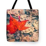 Fallen Red Leaf Tote Bag
