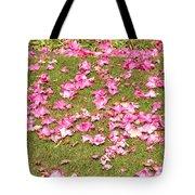 Fallen Rhododendron Tote Bag