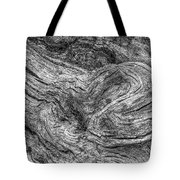 Fallen Tree Bark Bw Tote Bag