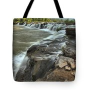 Falling Across The New River Tote Bag