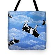 Falling Cows Tote Bag