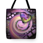 Falling In Love - Valentine Card / Poster Tote Bag by Roger Snyder