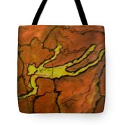 Falling Man Rock Art Tote Bag
