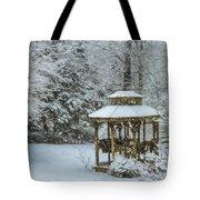 Falling Snow - Winter Landscape Tote Bag