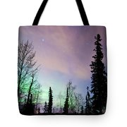 Falling Star And Aurora Tote Bag by Ron Day