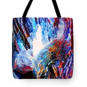 Falling Through Fire Tote Bag