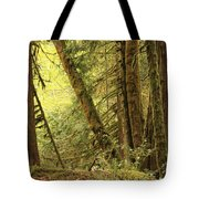 Falling Trees In The Rainforest Tote Bag