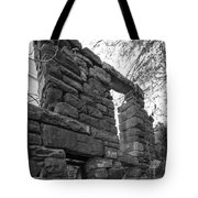 Falling Wall Jerome Black And White Tote Bag