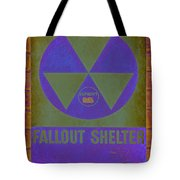 Fallout Shelter Abstract Tote Bag