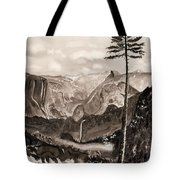 Falls Of The Yosemite Painting Tote Bag