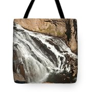 Falls On The Gibbon River In Yellowstone National Park Tote Bag