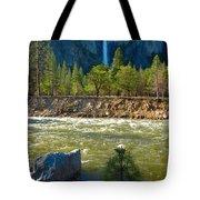 Falls On The Merced Tote Bag