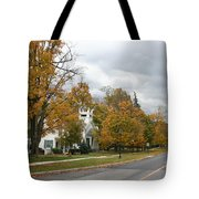 Autumn Trees At The Roadside Tote Bag