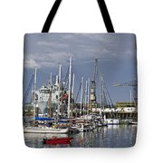 Falmouth Harbour And Docks Tote Bag