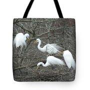 Family Affair Egrets Louisiana Tote Bag