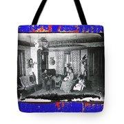 Family At Home Interior Collage Tucson Arizona Circa 1883-2012 Tote Bag