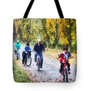 Family Bike Ride Tote Bag