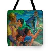 Family Bonding In Bicol Tote Bag