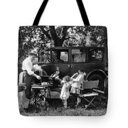Family Camping Tote Bag