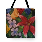 Family Flowers Tote Bag