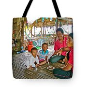 Family In Countryside Outside Of Siem Reap-cambodia Tote Bag