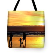 Family In The Yellow Spotlight Tote Bag