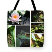 Family Of Frogs Collage Tote Bag