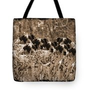 Family Portrait Before The Hunt-featured Picture In Large Dogs Only Group Tote Bag