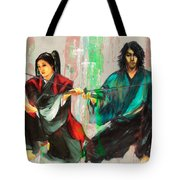 Family Samurai  Tote Bag